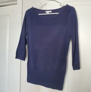 Navy New York and Company blouse